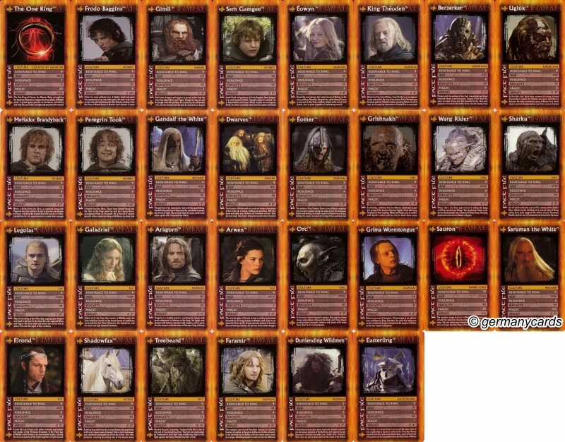 B Top Trumps Winning Moves 2003 The Lord Of The Rings