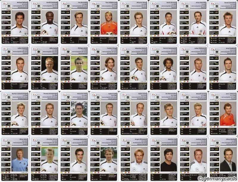M Top Trumps Teepe Verlag 2006 Die Deutsche Fussball Nationalmannschaft