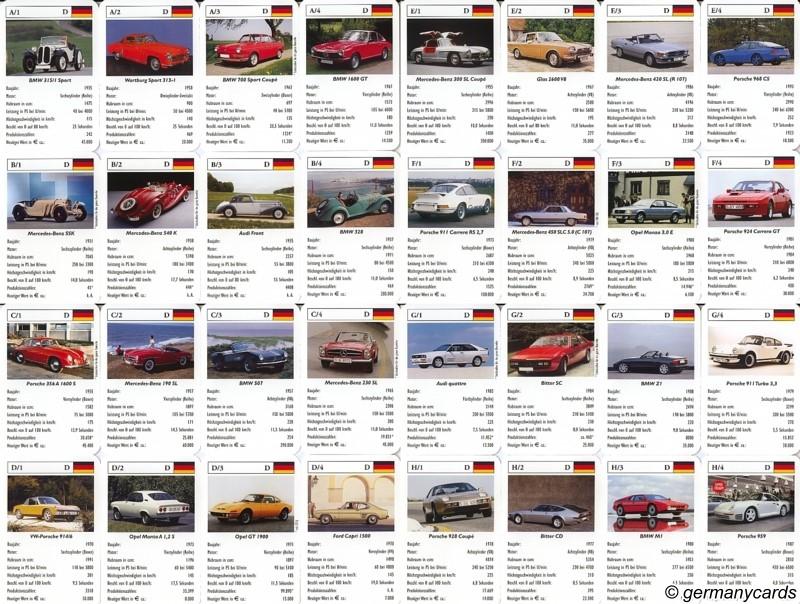 S Quartett Kartenspiel Heel 2006 Deutsche Sportwagen