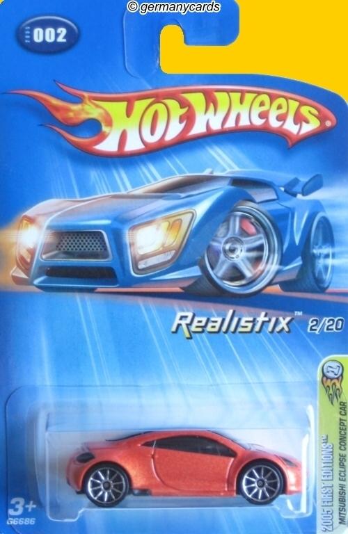 Hot Wheels 2005 Mitsubishi Eclipse Concept Car Germanycards