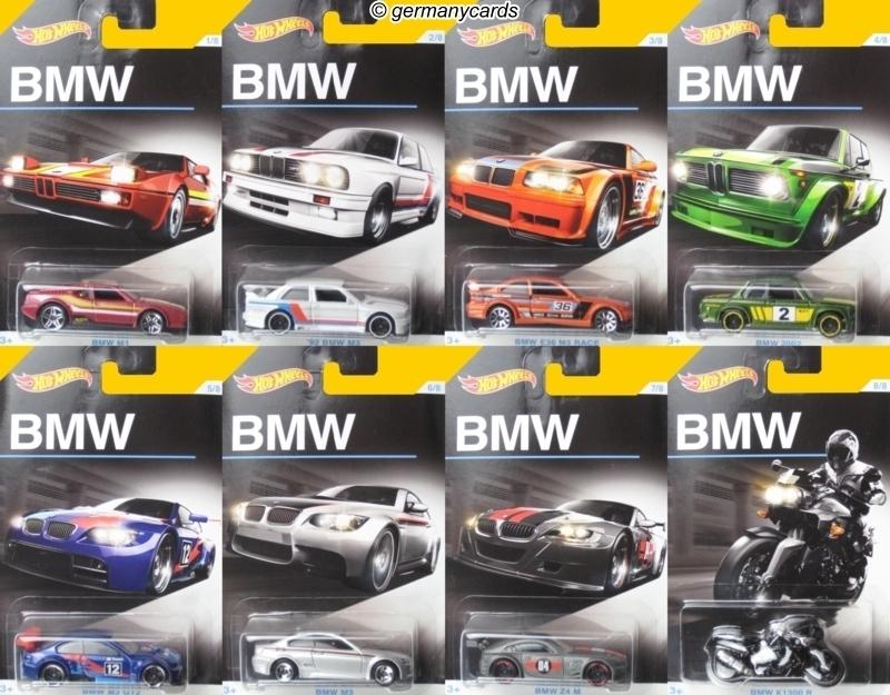 Hot Wheels 2016 100 Jahre Bmw Set Von 8 Autos Germanycards